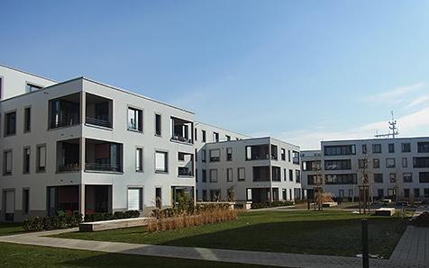 Konstanz, Wohnbebauung am Petershauser Bahnhof